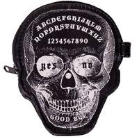 Banned Gothic Punk Geldbörse Münzbeutel - Power Trip Schädel Skull Ouija