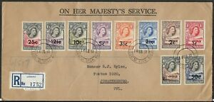 Bechuanaland Protectorate QEII 1961 OHMS Registered Cover sent to Johannesburg