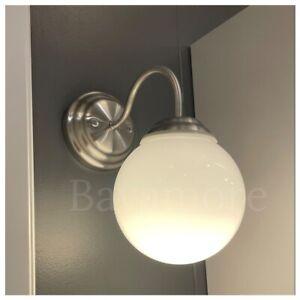 IKEA LILLHOLMEN Wall Lamp, nickel plated, white, BRAND NEW