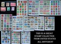 This Is A Great Stamp Collection From United States & All Different, Free Post