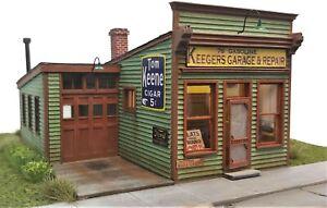 HO Scale Kit: Keeger's Garage & Repair
