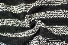 Strick, Strickstoff, Streifen, Meterware, Wolle, gestreift, Schwarz, Weiß