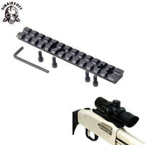 """13 Slots 5.5"""" Picatinny Weaver 20 mm Rail Base adapter Mount For Rifle Hunting"""