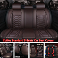 Deluxe Car Seat Covers Front+Rear PU Leather Full Set For Interior Accessories