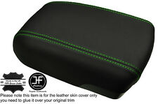 GREEN  STITCH ARMREST LID GENUINE LEATHER COVER FITS HYUNDAI IX35 2010-2015