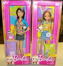 Barbie / Skipper with Dog and Stacie with Cat - 2 dolls - No longer available