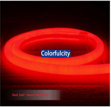 50' 100ft' 330ft' DC 12V 360 Degree Flex Round LED Neon Rope Sign Lights Strip