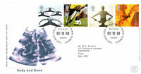 3 OCTOBER 2000 BODY AND BONE ROYAL MAIL FIRST DAY COVER BUREAU SHS
