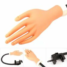 Practice Nail Art Trainer Training Flexible Finger Hand Tool with Stand Holder