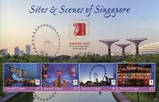 Marshall Islands 2019 MNH Sites & Scenes Singapore Singpex 4v M/S Tourism Stamps