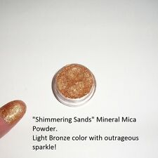 """Shimmering Sands"" Mineral Mica Powder Eye Shadow ~ Warm bronze w/sparkle~ Vegan"