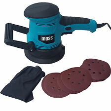 450w Moss Random Orbital Sander With Dust Bag Hook And Loop + 6 Sanding sheets