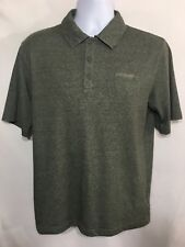 COLUMBIA Omni Wick Men's Polo Shirt Size S Small Green Cotton Blend Short Sleeve
