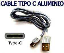 Metal Resistente trenzado tipo C Cable de Cargador USB para Huawei lg samsung