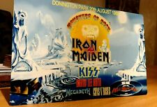 IRON MAIDEN MONSTERS OF ROCK CASTLE DONINGTON 1988 8X12 INCH METAL SIGN