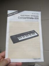 Owner's Operating Manual for Concertmate 500 Keyboard Casio SK-1 original