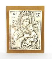 Vintage Our Lady of Perpetual Help Virgin Mary Plate Plaque Statue Made Italy