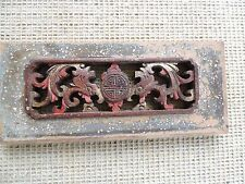 202. Antique Carved  Wood Panel  w/ Dragon