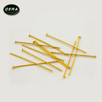 """1000 - 1 """" (40mm) BRASS color PINS CHANDELIER LAMP BEAD PRISM CRYSTAL CONNECTOR"""