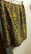 Womens Gold Patterned Designer Skirt Sz12 Bianca Steffini Brand