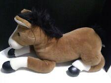 "Aurora World Brown/White/Black Horse Pony Plush 28"" Large XL Rare Jumbo"