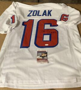 Scott Zolak Autographed Signed Patriots White Custom Jersey JSA COA