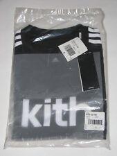 Kith x adidas Soccer Cobras Away Logo Tee Shirt Black / White Men's Large NEW!