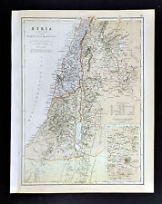 1883 Blackie Map - Syria - Palestin Hauran Jerusalem Damascus Galilee Israel
