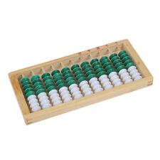 Con struttura in legno 9-cordone di 11 cifre Abacus Pallottoliere Bambini Educazione Matematica K9B4