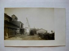 1910s Real Photo Steam Crane on Train Track by the Docks