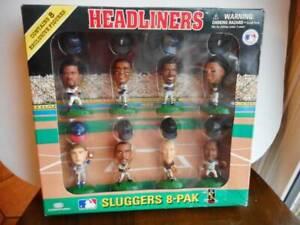 HEADLINERS MLB SLUGGERS 8-PAK EXCLUSIVE FIGURES- GRIFFEY JR, RIPKEN, THOMAS 1996