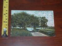POSTCARD RARE VINTAGE SO HADLEY MASSACHUSETTS ROAD TO SMITHS FERRY 1908