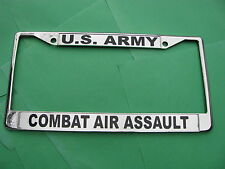 U S Army-COMBAT AIR ASSAULT-License Plate Frame-Chromed Cast Metal #811161