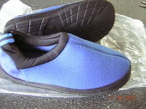 NIB New Women's Blue Slippers House shoes - Size 9 10 (L) Indoor Outdoor Sole