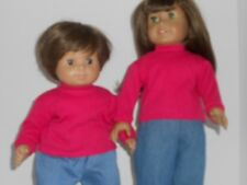 """Hot Pink Long Sleeve T-Shirt for 15"""" & 18"""" Dolls"""