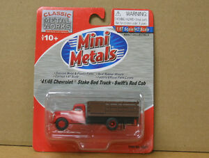 MINIMETALS 30337, HO 1941/46 Chev Stake Bed, Swift`s red cab, REDUCED PRICE