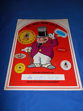 Vintage WC FRITOS MUNCH CLUB KIT Membership Premium 1972 W.C. Fields Frito Corn