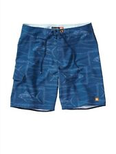 Quiksilver Waterman Collection Swell Blue Boardshorts Shorts Sz 34 Surf Men New