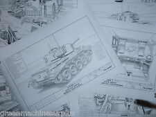 Comet Tank.MK1. Stowage sketches.x 6.