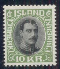 ICELAND #187 (157) 10kr Chr. X, og, LH, VF, Scott $250.00