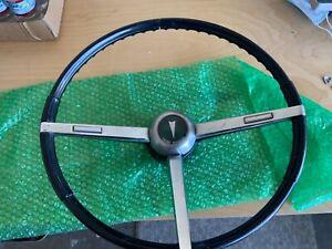 1967 Pontiac GTO black steering wheel