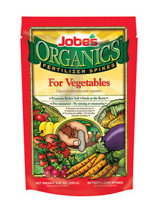 Jobe's  Organics  Fertilizer Spikes  For Vegetable Plants 50 pk