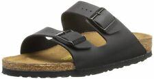 Birkenstock Arizona Black Birko-Flor Womens Leather Narrow Fit Sandals
