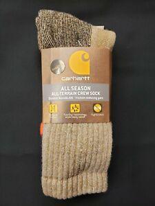 Carhartt All Season All-Terrain Men's Crew Socks 2pairs Large Shoe Size 6-12