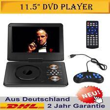 11,5 Zoll Tragbarer Schwenkbarem Bildschirm USB SD DVD Player Mit Auto Ladegerät