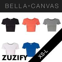 Bella + Canvas Ladies Junior Fit Crop Top T-Shirt. 6681