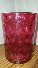 FENTON ART GLASS CRANBERRY  OPALESCENT INVERTED - POLKA DOT - COIN DOT TUMBLER