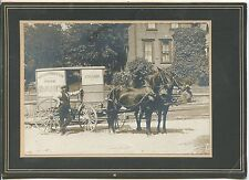 ANTIQUE CABINET PHOTO - HORSE DRAWN DAIRY WAGON Washington Park Dairy