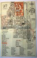 Knotts Berry Farm Buena Park California Map Souvenir 1971 Amusement Park