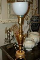 ANTIQUE REMBRANDT ART DECO NOUVEAU TORCHE TABLE LAMP MARBLE CHIC SHABBY ORNATE